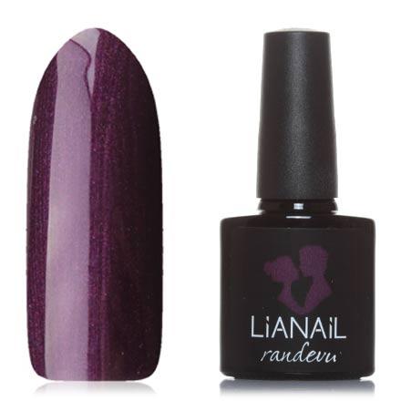 Lianail, Гель-лак Randevu, Старое бургундскоеLianail<br>Гель-лак (10 мл) баклажановый, с перламутром, плотный.<br><br>Цвет: Фиолетовый<br>Объем мл: 10.00