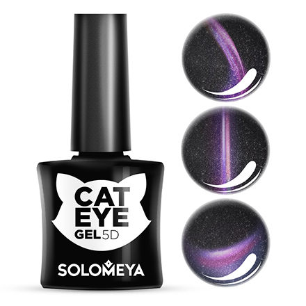 Купить Solomeya, Гель-лак Cat Eye 5D, Persian, Wella Professionals, Черный
