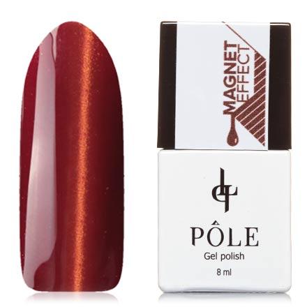 POLE, Гель-лак №33, Осенний кленPOLE<br>Магнитный гель-лак (8 мл) гранатово-красный, с золотисто-оранжевыми микроблестками, плотный.<br><br>Цвет: Красный<br>Объем мл: 8.00
