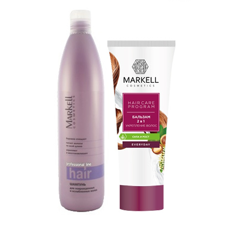 Markell, Набор Strong hair markell бальзам anti hair loss