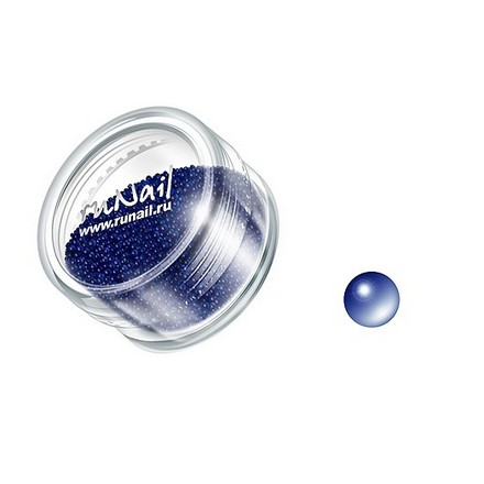 ruNail, дизайн для ногтей: бульонки 0306 (темно-синий) runail дизайн для ногтей ракушки 0285