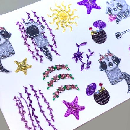 AnnaTkacheva,3D-слайдерCrystalHT№123 «Животные. Еноты» фото