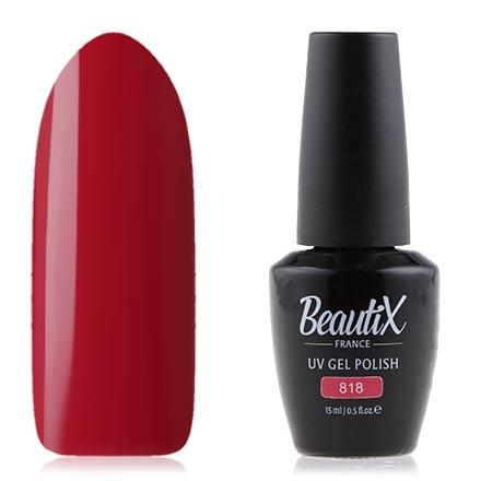 Beautix, Гель лак №818, 15 мл, Красный  - Купить