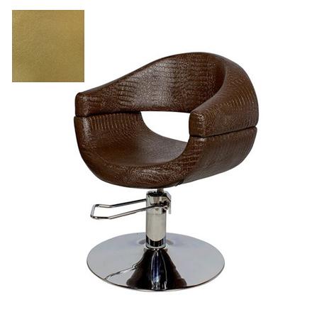 Купить Мэдисон, Кресло парикмахерское «МД-108» гидравлическое, хромированное, золотистое