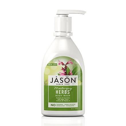JASON, Гель для душа Moisturizing Herbs, 887 мл
