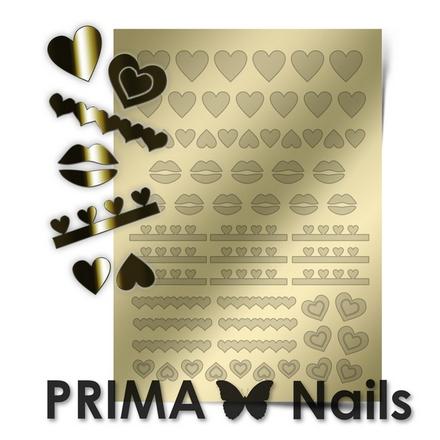 Prima Nails, Металлизированные наклейки LV-01, золото