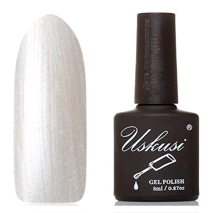 Uskusi, Гель-лак №109Uskusi<br>Гель-лак (8 мл) жемчужно-белый, с перламутром, плотный.<br><br>Цвет: Серебряный<br>Объем мл: 8.00