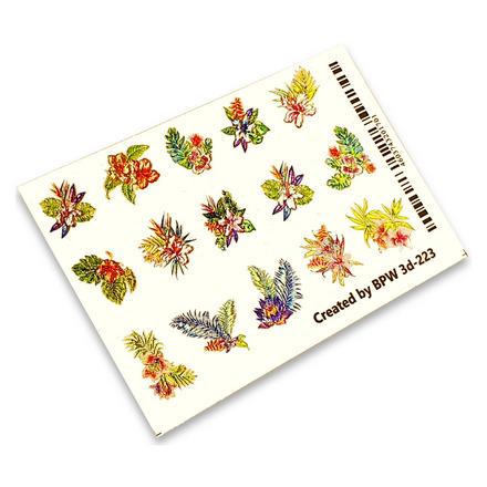 Купить BPW.style, 3D-слайдер «Тропические цветы» №3d-223