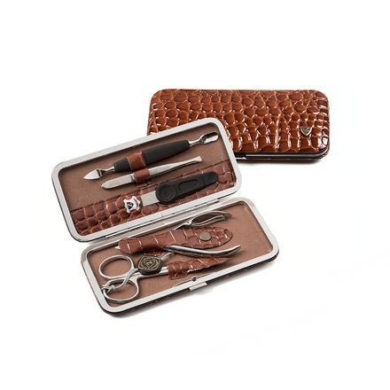 Zinger, Маникюрный набор, MSFE-501-1-S, коричневый