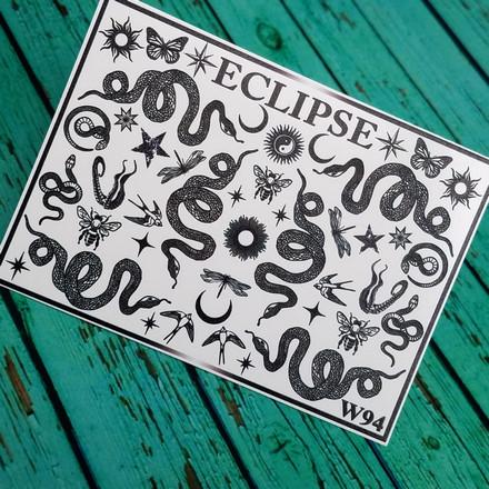 Купить Eclipse, Слайдер-дизайн для ногтей W №94