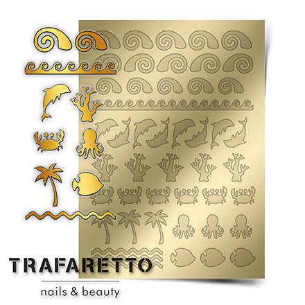 Купить Trafaretto, Металлизированные наклейки Sea-05, золото