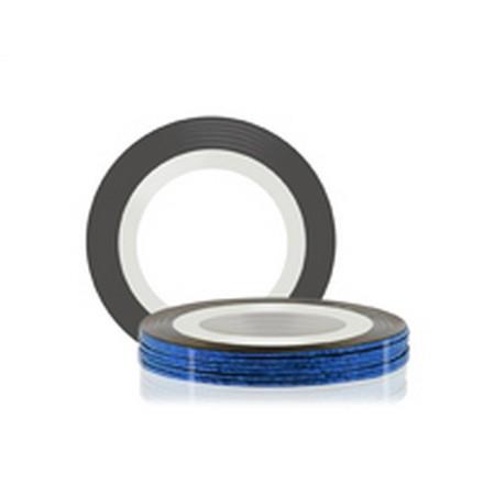 Купить RuNail, Самоклеющаяся лента для дизайна ногтей, синяя голографическая, 20 м