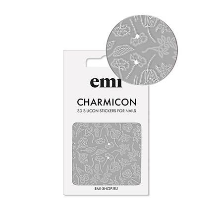 Купить EMI, 3D-стикеры Charmicon №177, Цветы белые