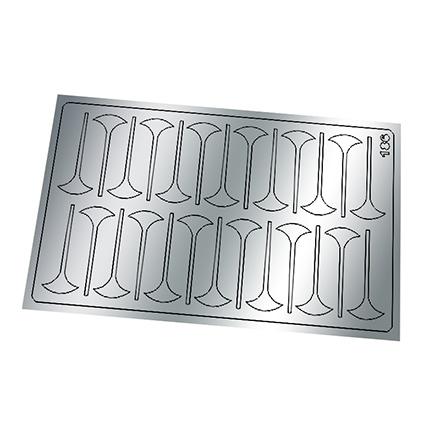 Freedecor, Металлизированные наклейки №186, серебро  - Купить