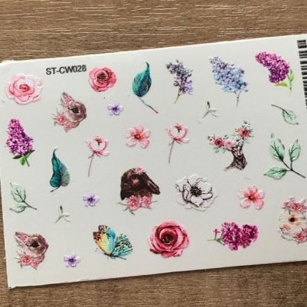 Купить Anna Tkacheva, Стикер ST-CW №028 «Цветы. Веточки»