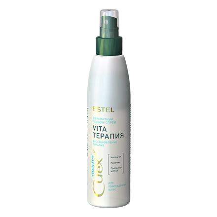 Estel, Двухфазный лосьон-спрей Curex Therapy Интенсивное восстановление, 200 млСпреи для волос <br>Спрей для поврежденных волос. Восстанавливает и выравнивает структуру волос, а также придает им блеск и силу.