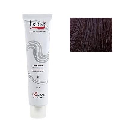 Kaaral, Крем-краска для волос Baco B 5.00Краска для волос<br>Цвет: светло-каштановый интенсивный. Объем: 100 мл.