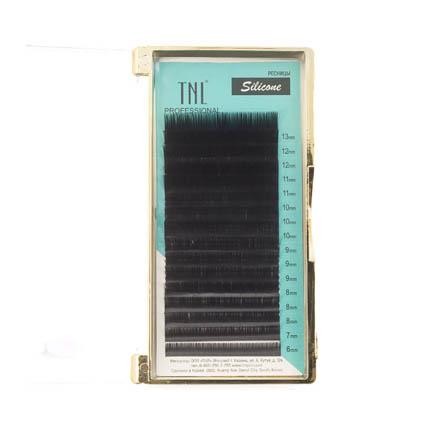 TNL, Ресницы на ленте силиконовые 0,07 мм, D-изгиб