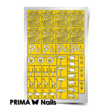 Prima Nails, Трафареты «Сафари»