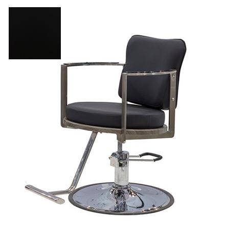 Купить Мэдисон, Кресло парикмахерское «Хилтон» гидравлическое, хромированное, черное