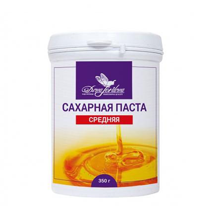 Dona Jerdona, Сахарная паста «Средняя», 350 гПаста для шугаринга (сахарная)<br>Натуральная паста для шугаринга. Для тонких волос и волос средней жесткости.