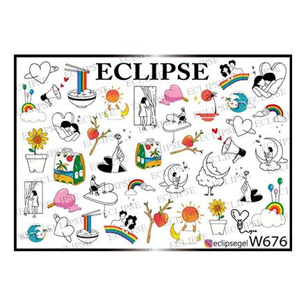 Купить Eclipse, Слайдер-дизайн для ногтей W №676
