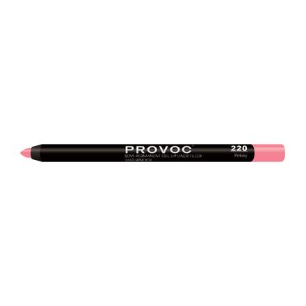 Provoc, Гелевая подводка-карандаш для губ №220, Pinkey, цвет розово-бежево-лососевый