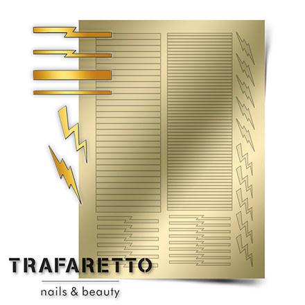 Купить Trafaretto, Металлизированные наклейки GM-05, золото