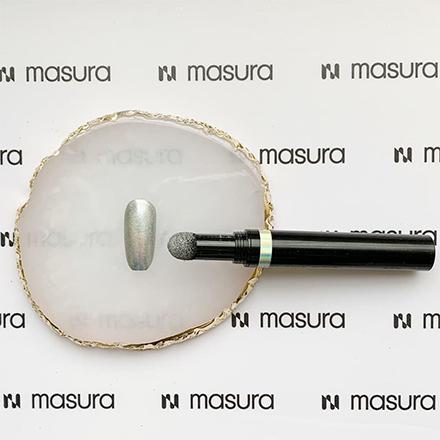 Купить Masura, Ручка-втирка, хром голографический, Серебряный