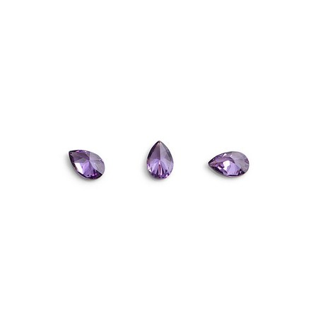 Купить TNL, Кристаллы «Капля» №1, фиолетовые, 10 шт., TNL Professional