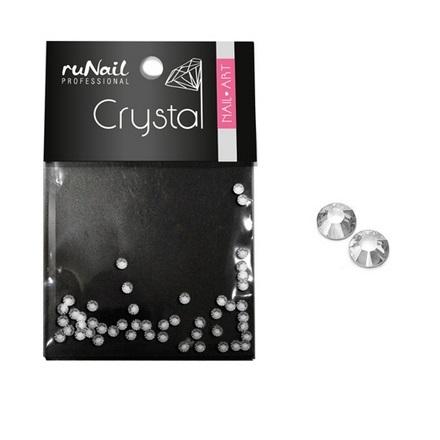 ruNail, Стразы для ногтей, прозрачные, 1,5 мм runail дизайн для ногтей ракушки 0287