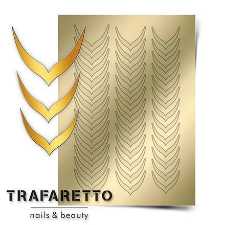 Купить Trafaretto, Металлизированные наклейки CL-04, золото