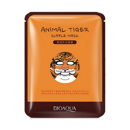 Bioaqua, Тканевая маска Animal Face, Tiger, 30 гМаски<br>Питательное и тонизирующее средство для ухода за уставшей кожей.