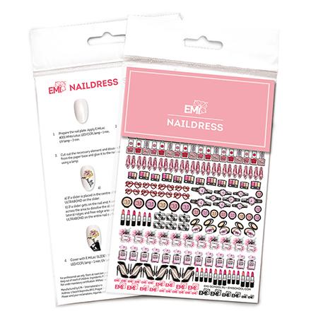 Купить E.Mi, Слайдер-дизайн Naildress №4 «Косметика»