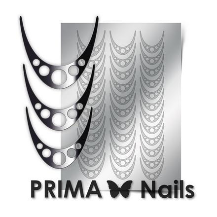 Prima Nails, Металлизированные наклейки CL-005, серебро