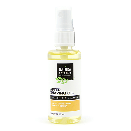 Natura Botanica, Масло после бритья «Лимон и корица», 50 мл chi luxury black seed oil curl defining cream gel
