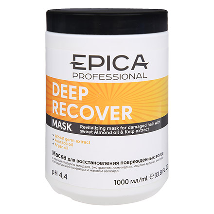 Epica, Маска Deep Recover, 1 л chi luxury black seed oil curl defining cream gel