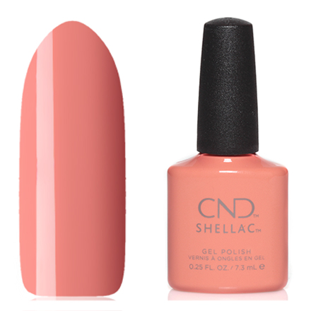 CND, цвет UninhibitCND<br>(7,3 мл) персиковый,  без перламутра и блесток, плотный.