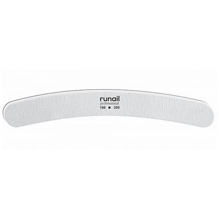 Купить RuNail, Пилка для искусственных ногтей, белая, бумеранг, 180/200