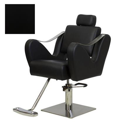 Купить Мэдисон, Кресло парикмахерское «МД-366» гидравлическое, хромированное, черное