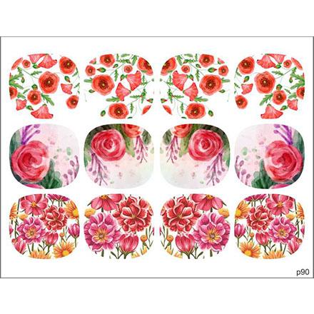 Купить BPW.Style, Слайдер-дизайн «Цветы» №p90, для педикюра
