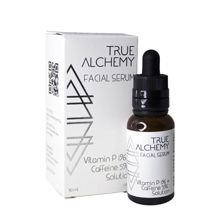 True Alchemy, Сыворотка для лица Vitamin P 1% + Caffeine 5%, 30 млСыворотки для лица<br>Сыворотка для улучшения кровообращения, восстановления кожи.