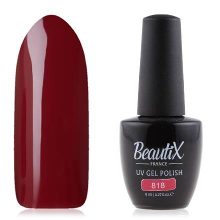 Купить Beautix, Гель лак №818, 8 мл, Красный