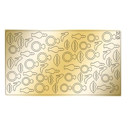 Купить Freedecor, Металлизированные наклейки №203, золото