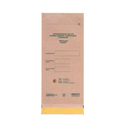Медтест, Крафт-пакеты для стерилизации, 100х200 мм