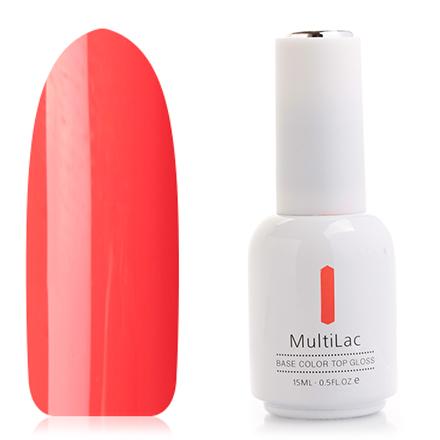 ruNail, Гель-лак MultiLac, Восточный МакRuNail professional<br>Однофазный гель-лак (15 мл) насыщенный оранжевый, без перламутра и блесток, плотный.