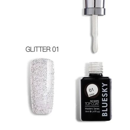 Купить Bluesky, Топ Masters Series Glitter №01, 14 мл