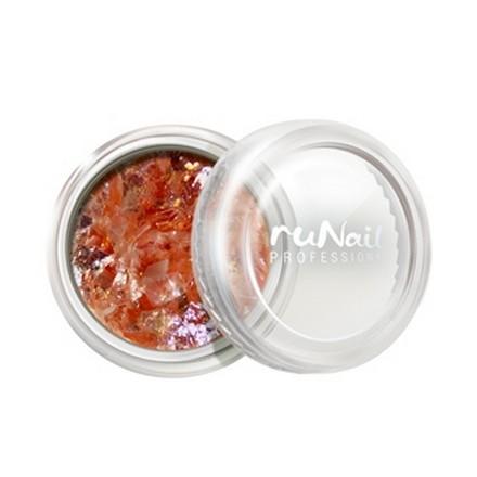 ruNail, дизайн для ногтей: слюда 0330 runail дизайн для ногтей пыль оранжевый