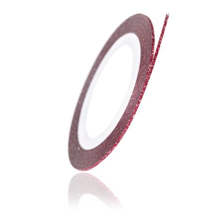 TNL, Нить на клеевой основе перламутровая, красная