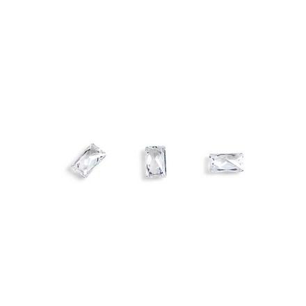TNL, Кристаллы «Багет» №3, прозрачные, 10 шт.3D украшения<br>Кристаллы для объемной инкрустации ногтей. В упаковке 10 штук.